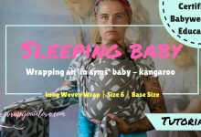 Photo of Wrapping an in arms (sleeping) baby ( + transfer)