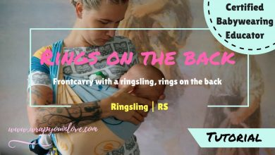 Photo of Ringsling front carry – rings on the back (+nursing)