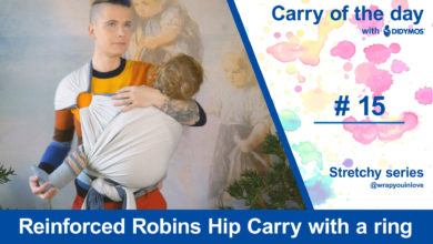 Photo of Reinforced Robins Hip Carry with a ring – Stretchy