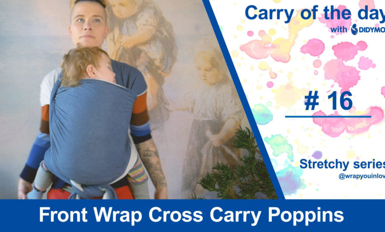 Photo of Front Wrap Cross Carry Poppins – Stretchy series