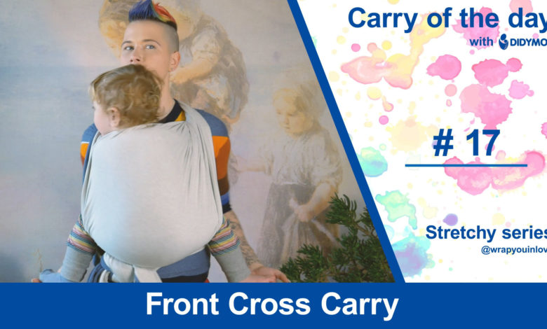 Photo of Front Cross Carry – stretchy wrap