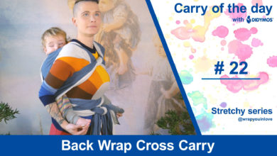 Photo of Back Wrap Cross Carry – stretchy series