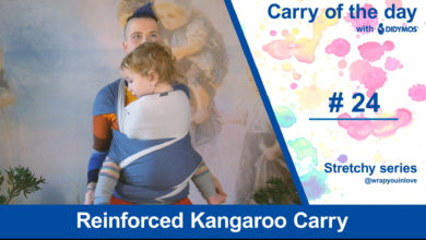 Photo of Reinforced Kangaroo Carry – Stretchy Wrap