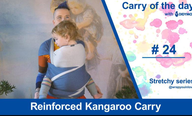 Photo of Reinforced Kangaroo Carry – Stretchy Wrap