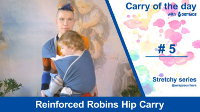 Photo of Reinforced Robins Hip Carry – Stretchy wrap