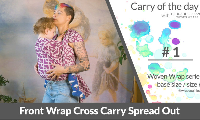 Photo of FWCC spread out – Woven wrap – series  (size 6 / base size)