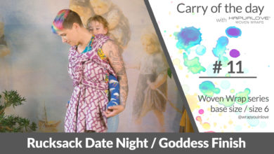 Photo of Rucksack Date night / Goddess finish –  Woven wrap – series (size 6 / base size)