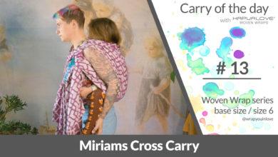 Photo of Miriams Cross Carry –  Woven wrap – series (size 6 / base size)