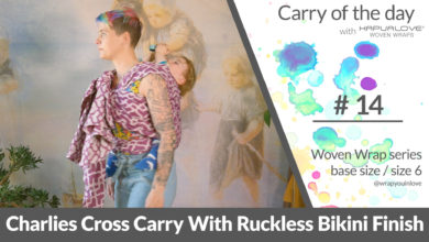 Photo of Charlies Cross Carry with ruckless bikini finish –  Woven wrap – series (size 6 / base size)