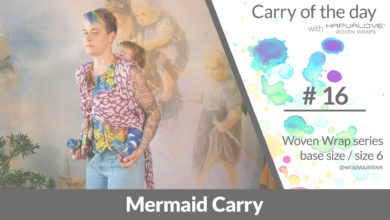Photo of Mermaid Carry  –  Woven wrap – series (size 6 / base size)