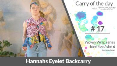 Photo of Hannahs Eyelet Backcarry –  Woven wrap – series (size 6 / base size)