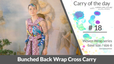 Photo of Bunched Back Wrap Cross Carry –  Woven wrap – series (size 6 / base size)