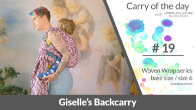 Photo of Giselle's Backcarry –  Woven wrap – series (size 6 / base size)