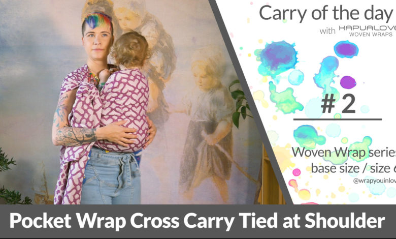 Photo of PWCC tied at shoulder – Woven wrap – series (size 6 / base size)