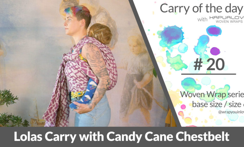 Photo of Lolas Carry with Candy Cane Chestbelt –  Woven wrap – series (size 6 / base size)