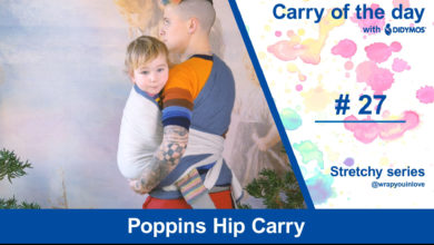 Photo of Poppins Hip Carry – Stretchy Wrap