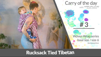 Photo of Rucksack with a knotless Tibetan finish – Woven wrap – series (size 6 / base size)