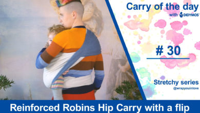 Photo of Reinforced Robins Hip Carry with a flip – Stretchy Series