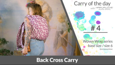 Photo of Back cross carry  – Woven wrap – series (size 6 / base size)