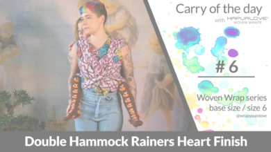 Photo of Double Hammock Rainers Heart Finish  – Woven wrap – series (size 6 / base size)
