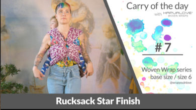 Photo of Rucksack star finish – Woven wrap – series (size 6 / base size)