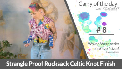 Photo of Rucksack Strangleproof with Celtic Knot  – Woven wrap – series (size 6 / base size)